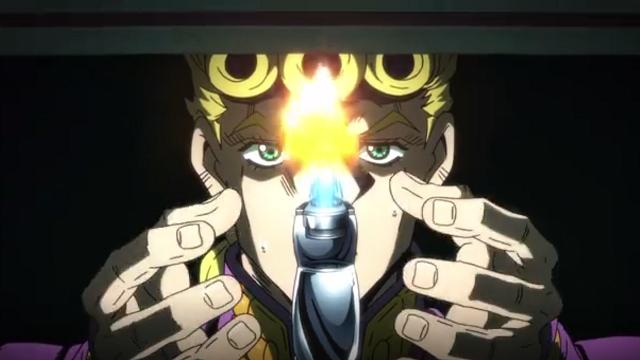 ジョジョの奇妙な冒険黄金の風第3話火のついたライターを受け取るジョルノ
