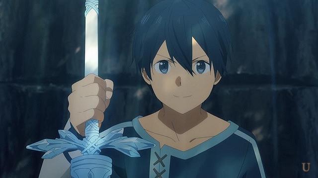 sao青薔薇の剣を持ち自信満々のキリト