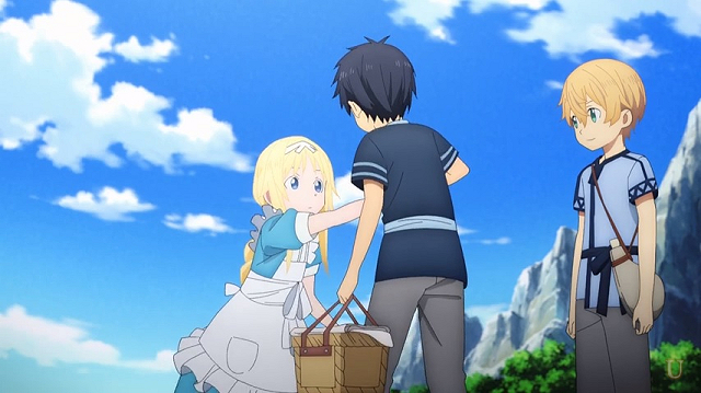 キリトに手を引かれるアリス