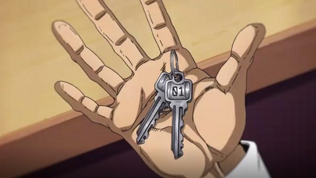 ジョジョの奇妙な冒険第5話ヨットの鍵