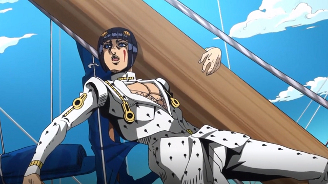 ジョジョの奇妙な冒険第6話二隻の船について解説するブチャラティ