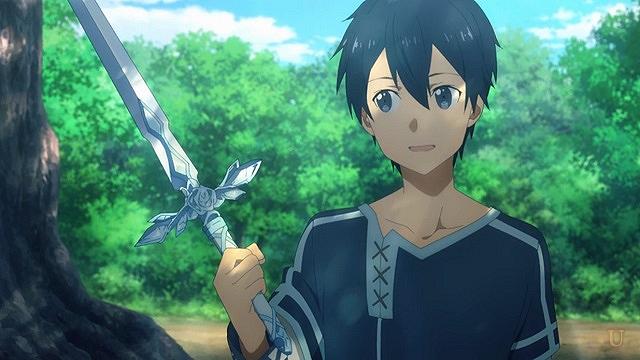 sao青薔薇の剣を持つキリト