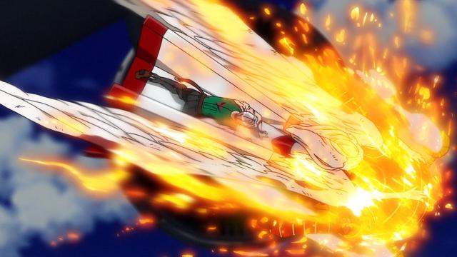 からくりサーカス第8話スパッツァの自爆を防ぐギイとオリンピア