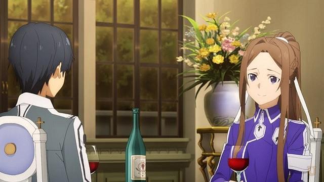 sao リーナ先輩の部屋で祝杯
