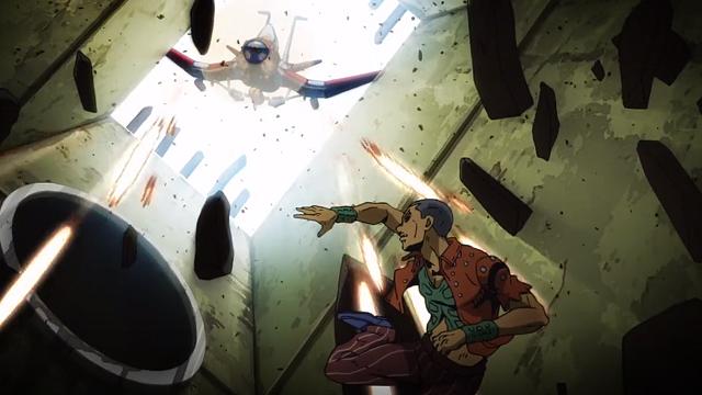 ジョジョの奇妙な冒険第10話ホルマジオを攻撃するエアロスミス