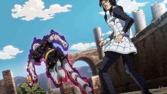 ジョジョの奇妙な冒険第13話フーゴを攻撃しようとするマンインザミラーとイルーゾォ