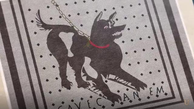 ジョジョの奇妙な冒険第12話ポンペイ犬の床絵