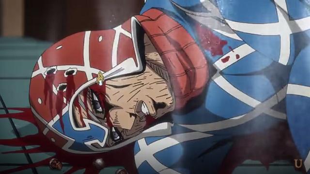 ジョジョの奇妙な冒険第15話倒れたミスタとピストルズNo.5
