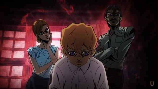 ジョジョの奇妙な冒険第12話幼少期のフーゴと両親