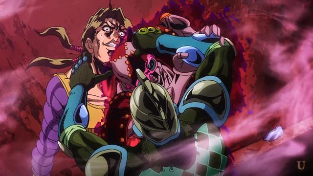 ジョジョの奇妙な冒険第13話パープルヘイズの攻撃を防ぐマンインザミラー