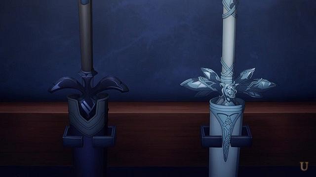 sao 青薔薇の剣と黒いやつ