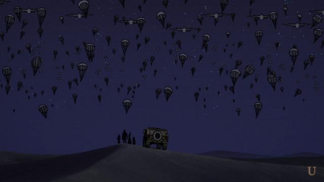 からくりサーカス11話サハラ砂漠に降り立つしろがねたち