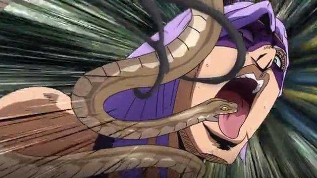 ジョジョの奇妙な冒険第18話毒蛇に噛まれるメローネ