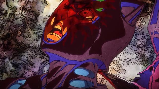 ジョジョの奇妙な冒険第18話首に鉄柱の先端が刺さったギアッチョ