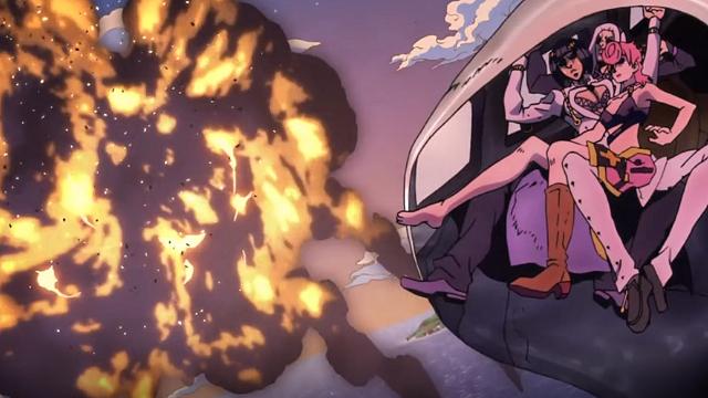 ジョジョの奇妙な冒険第25話爆発する機体とトリッシュブチャラティアバッキオ