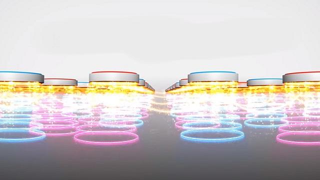 N極S極交互配列 磁力が引き合い広範囲に働きメンでの効果