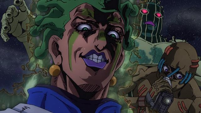ジョジョの奇妙な冒険第29話不気味な笑みを浮かべるチョコラータ