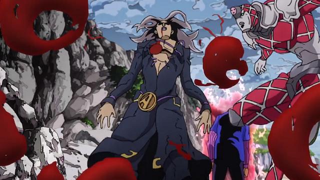 ジョジョの奇妙な冒険第28話キングクリムゾンに胸を貫かれたアバッキオ