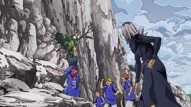 ジョジョの奇妙な冒険第28話子供たちにボールを取ってあげるアバッキオ