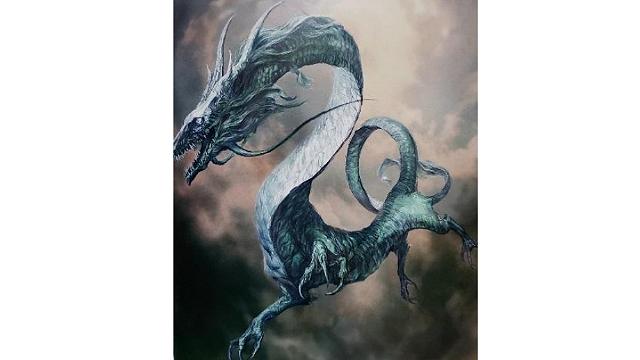 「ロードオブヴァーミリオン」画集 白-超獣・亜人・神族・海種-編より No.061わだつみ