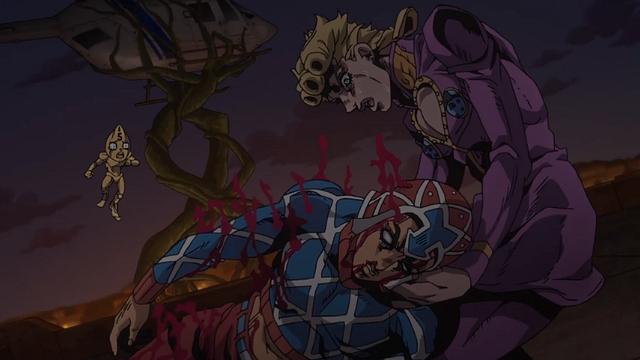 ジョジョの奇妙な冒険第31話負傷したミスタを抱えるジョルノ