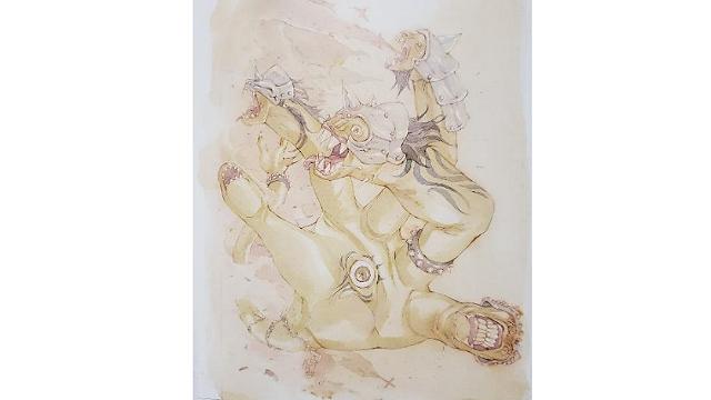 「ロードオブヴァーミリオン」画集 白-超獣・亜人・神族・海種-編より No.029やまたのおろち