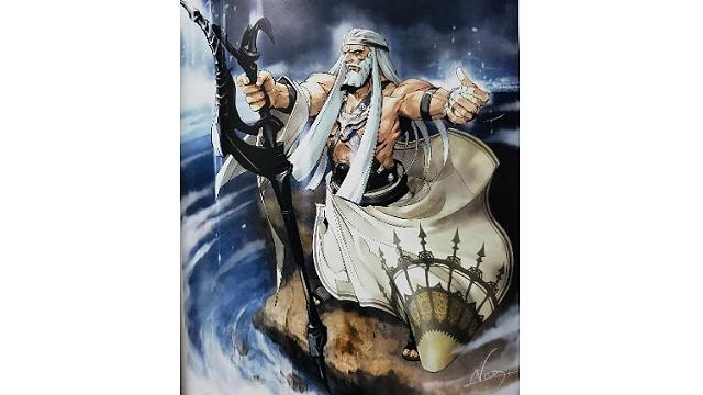 「ロードオブヴァーミリオン」画集 白-超獣・亜人・神族・海種-編より No.025ゼウス