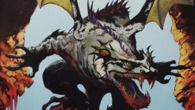 「ロードオブヴァーミリオン」画集 白-超獣・亜人・神族・海種-編より No.002ニーズヘッグ