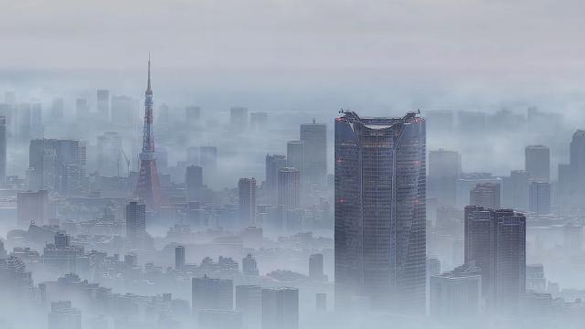 雨が降り止まない東京