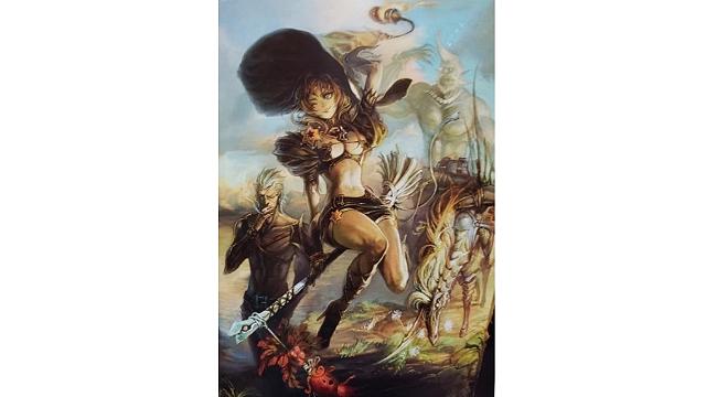 「ロードオブヴァーミリオン」画集 黒-魔種・機甲・不死-編より 「偉大なる魔女のサーガ」