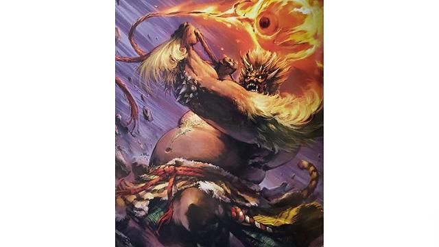 「ロードオブヴァーミリオン」画集 黒-魔種・機甲・不死-編より No.043酒呑童子