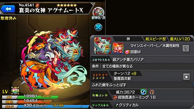 モンスターストライク真炎の女神アグナムートX 獣神化・改