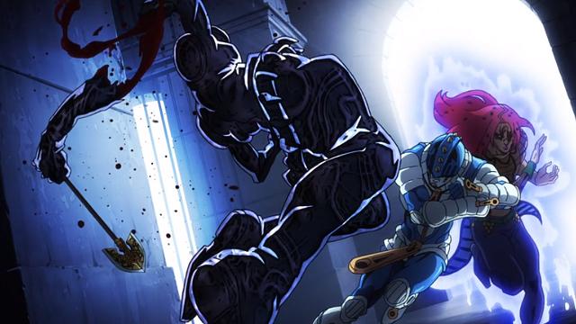 ジョジョの奇妙な冒険第34話ディアボロ(ブチャラティ)のスティッキィフィンガーズに腕を攻撃されるチャリオッツレクイエム