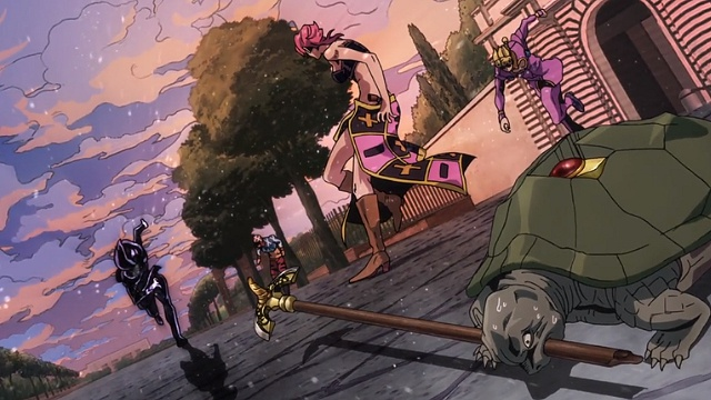 ジョジョの奇妙な冒険5部第35話レクイエムが落とした矢を拾う亀ポルナレフ