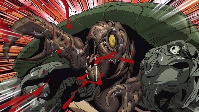 ジョジョの奇妙な冒険5部第36話レクイエムの開始時間になり異形化していく亀(ポルナレフ)